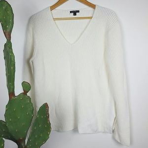 J. Crew white sweater